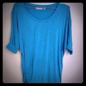 Teal turquoise knit top